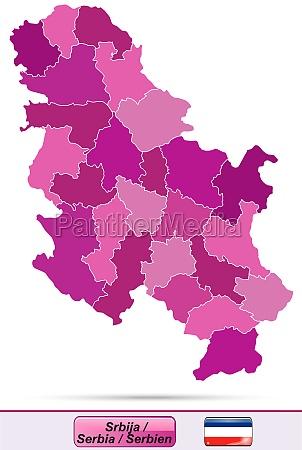 karte von serbien