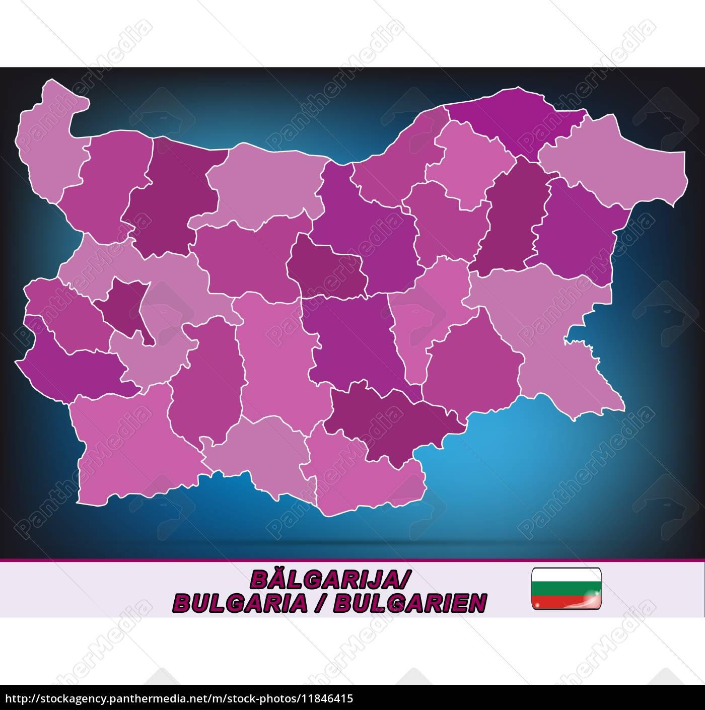 Karte Bulgarien.Lizenzfreie Vektorgrafik 11846415 Karte Von Bulgarien