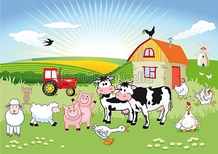 farm animals carton