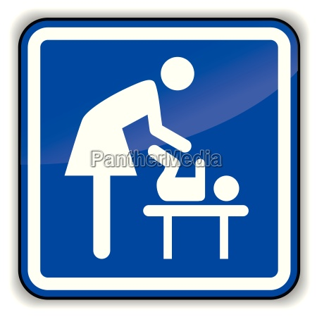 vector baby changing icon