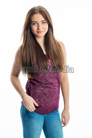young girl with brunette hair