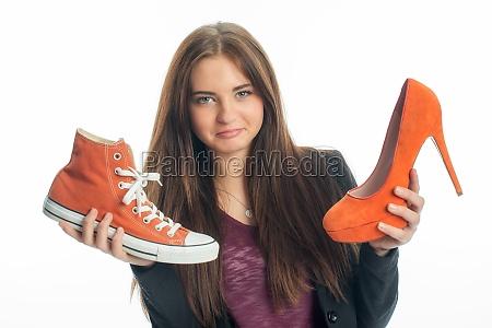 turnschuhe oder high heels