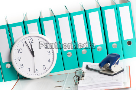 wall clock with files