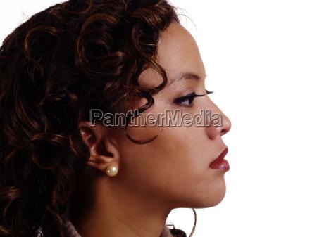 portrait profile filipino hispanic woman attractive