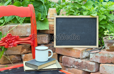 chair red chair old raised bed