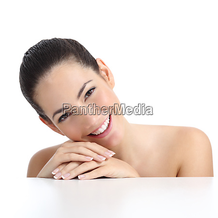beauty woman with perfect skin manicure