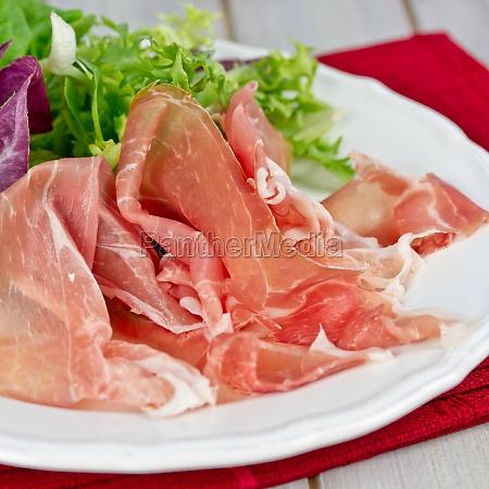parmaschinken mit salat