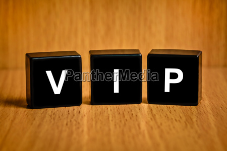 vip or very important person word