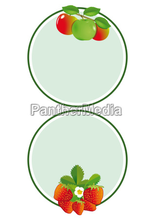 apfel erdbeer label