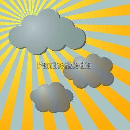 illustration bewoelkt wolkig tapete sternfoermig cartoon