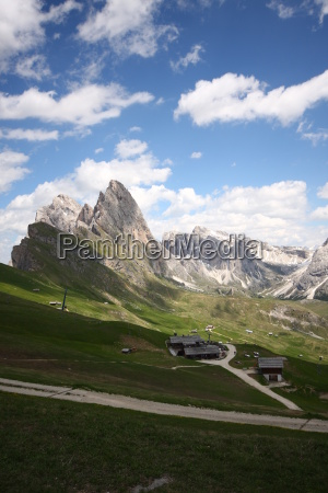 mountains dolomites south tyrol firmament sky