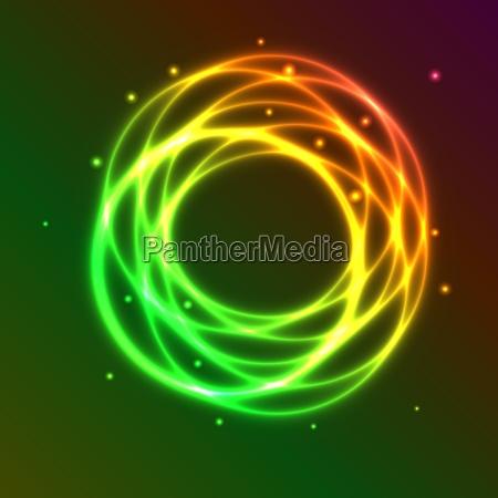 zusammenfassung hintergrund mit bunten plasma kreis