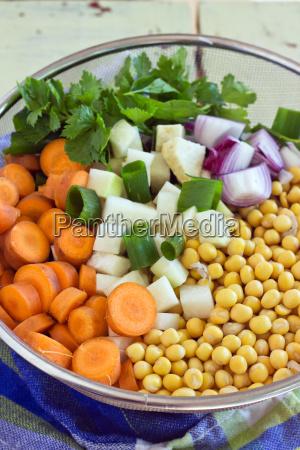 bowl yellow peas vegetables fresh pea