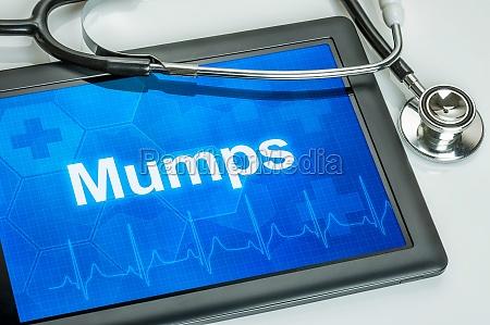 tablet mit der diagnose mumps auf