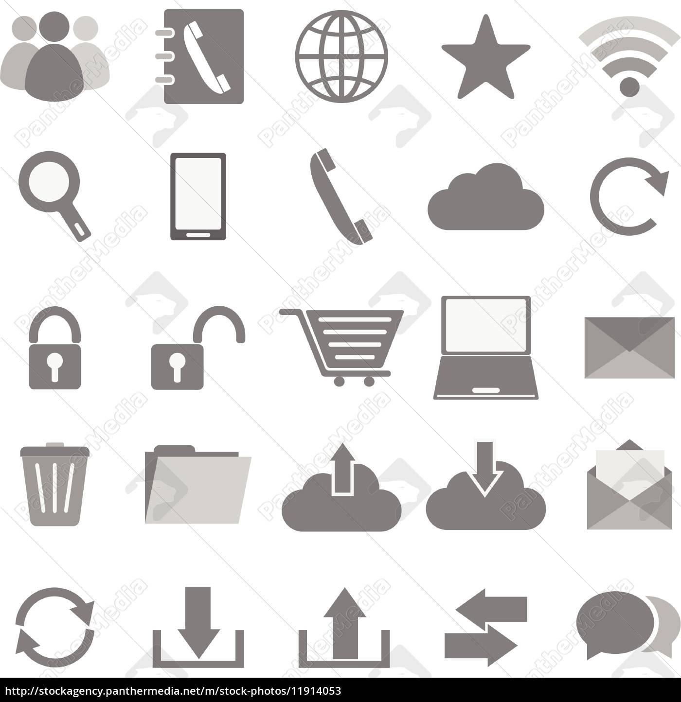 kommunikation symbole auf wei em hintergrund stockfoto 11914053 bildagentur panthermedia. Black Bedroom Furniture Sets. Home Design Ideas