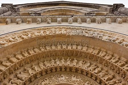 archivolts detail of aulnay de saintonge