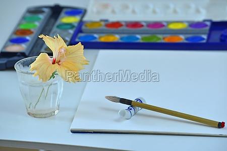 hobby aquarell malen