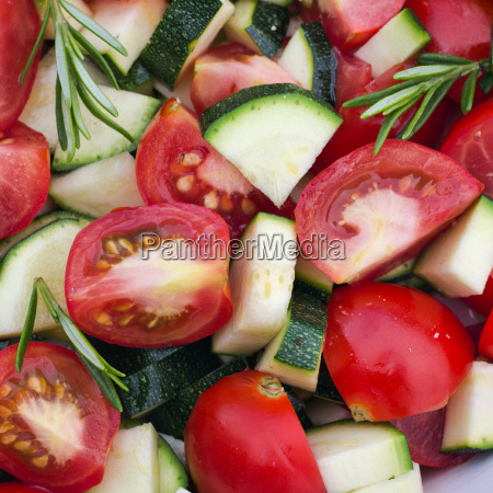fresh tomatoes zucchini courgette vegetables herb