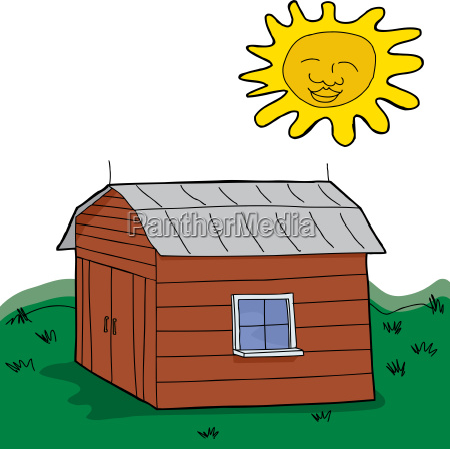 barn in green pasture