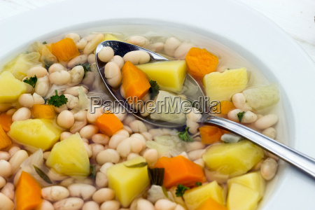 soup food bean soup beans white