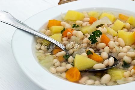 soup food bean soup beans white