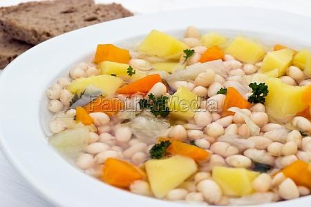 soup food bean bean soup eating
