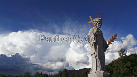 monument europe bishop sculpture holy sacred