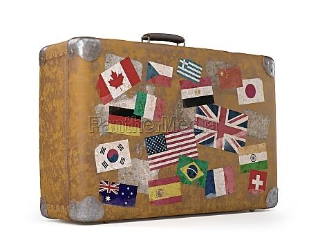 old trip bag