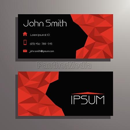 rote und schwarze moderne visitenkarten vorlage