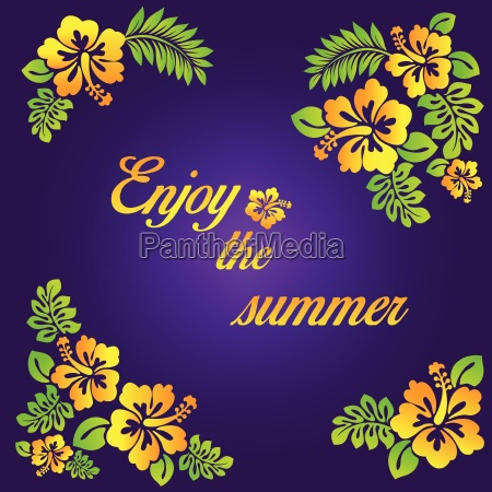 enjoy the summer purple illustration