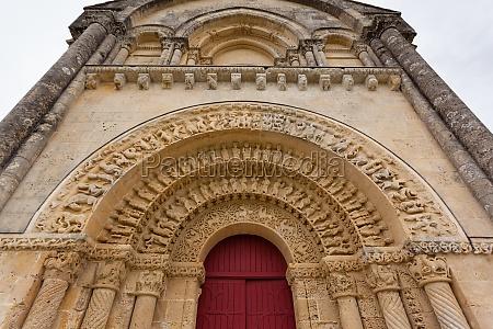 south door of aulnay de saintonge