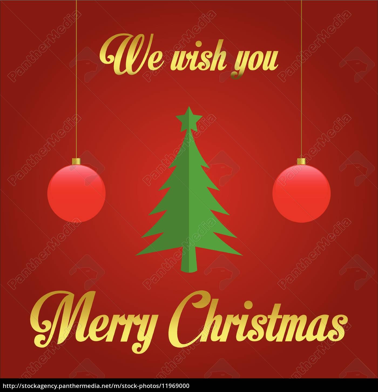 wir wünschen ihnen frohe weihnachten - illustration - Lizenzfreies ...