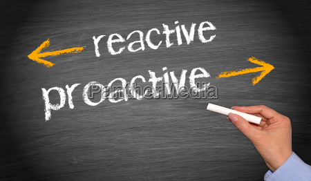 reactive and proactive business concept