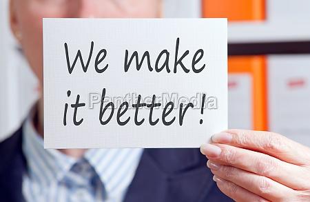 wir machen es besser