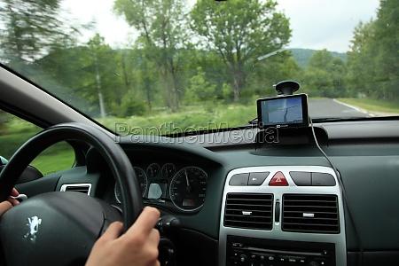 auto satelitennavigation gps geraet