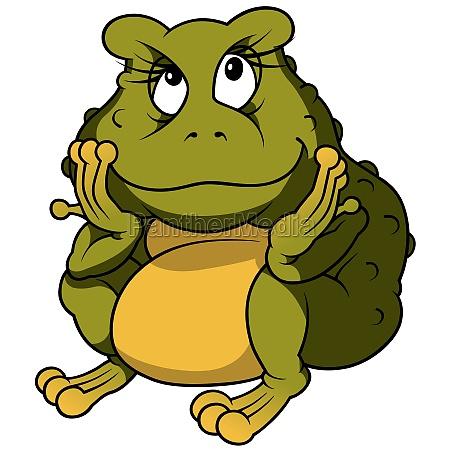 tier amphibie frosch cartoon vektor zeichentrickfilm