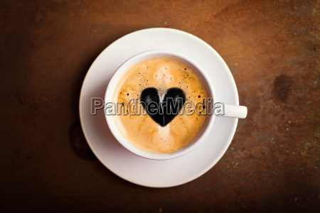 creamy coffee with heart