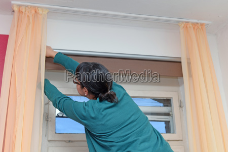 working on a blind