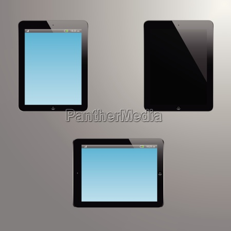 realistic illustration of a tablet with