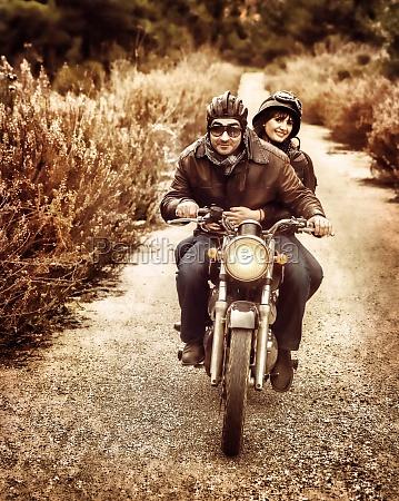 reiten auf dem motorrad
