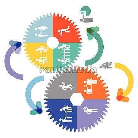 kooperation und teamwork