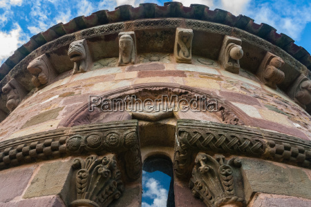 beautiful window in romanesque abse