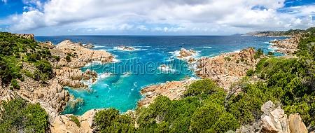 schoene ozean kueste panorama in costa
