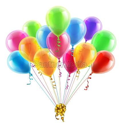 fodselsdag eller festballoner og bue