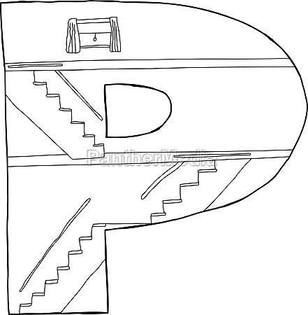 p mit treppen