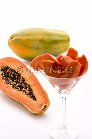 papaya a globose green and
