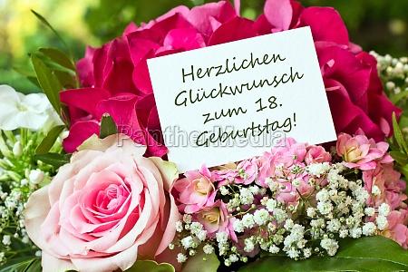 congratulation 18th birthday birthday birthday card