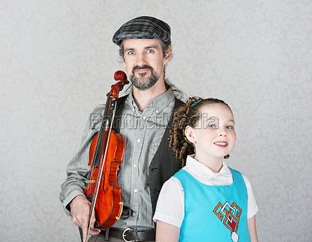 celtic folk performer mit kind