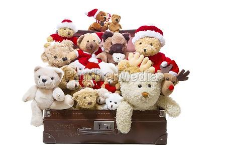 getrennte alte teddybaeren in einem alten