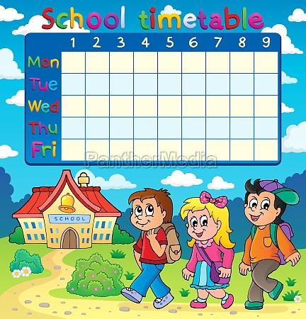 schule zeitplan zusammensetzung 5
